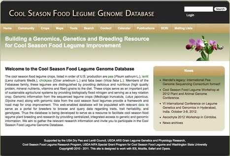 Cool Season Food Legume Genome Database | bioinformatics-databases | Scoop.it