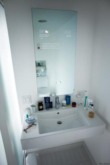 Il invente le miroir du futur. Promis vous allez adorer vous brosser les dents ! | Presse-Citron | Post-Sapiens, les êtres technologiques | Scoop.it