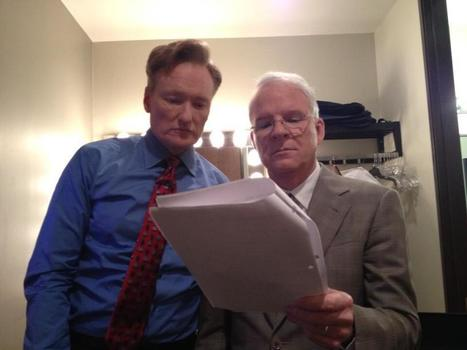Twitter / SteveMartinToGo: Backstage with Conan rehearsing ... | Comedy | Scoop.it