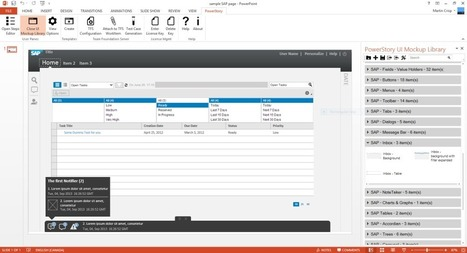 Create wireframe designs for SAP using PowerPoint / PowerStory | Wireframes and UI, UX | Scoop.it