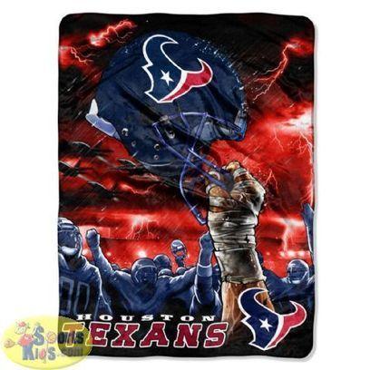 Northwest NFL Houston Texans Sky Helmet Design Plush Rachel Blanket | NFL Bedding Sets - Sportskids.com | Scoop.it