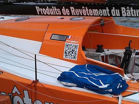 QRcode sur le bateau de Vincent Riou / Trophée Jacques Vabre 2011   QRdressCode   Scoop.it