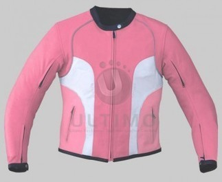 Pink/White Women Leather Jacket   You like leather jackets since nobody ignored it   Scoop.it