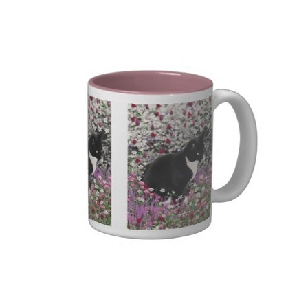 Freckles in Flowers II - Tuxedo Kitty Cat Mugs from Zazzle.com | Fanciful Animals to Delight You | Scoop.it