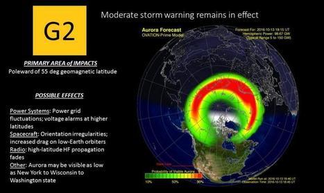 #AuroreBoréale G2 (Moderate) Geomagnetic Storm Warning in Effect | NOAA / NWS Space Weather Prediction Center | Arctique et Antarctique | Scoop.it
