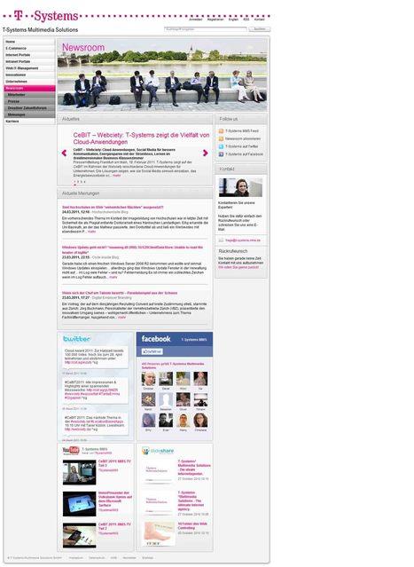 Newsroom - T-Systems Multimedia Solutions | Social Media Newsrooms | Scoop.it