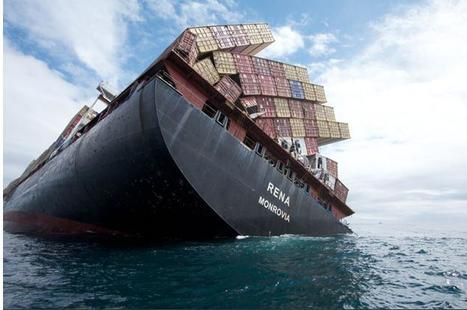 Global Logistics Media - Incredible Images of Sticken Container Ship Rena | RedPrairie is Commerce in Motion | Scoop.it