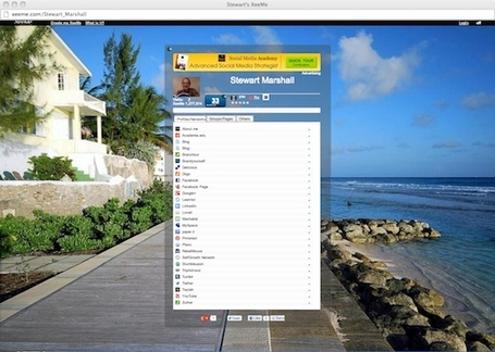 Gather all your social network addresses together in XeeMe | Studying Teaching and Learning | Scoop.it