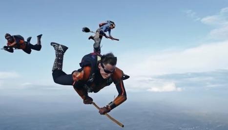 Ils sautent en parachute et se prennent pour Harry Potter jouant au Quidditch | Veille pour rire ou sourire | Scoop.it