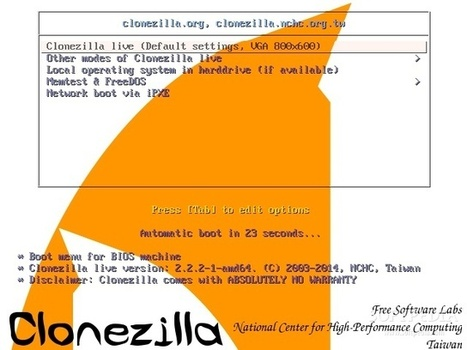 Clonezilla Live 2.2.2-37 Distro Features Updated Packages | Bazaar | Scoop.it
