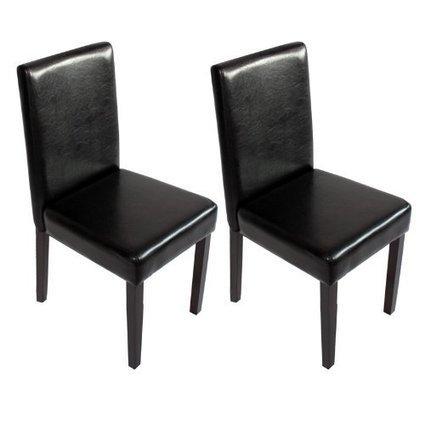 +++ Billige :    2x Esszimmerstuhl Lehnstuhl Stuhl M01 ~ schwarz, dunkle Beine | Günstige Lederstühle | Scoop.it