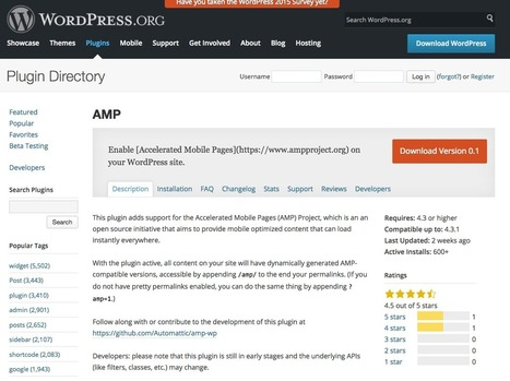 WordPress propose un plugin AMP pour booster l'affichage des ... - Abondance | Votre site avec Wordpress | Scoop.it