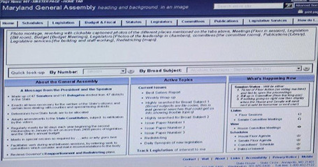 Mockup of redesigned Assembly website panned | Maryland Politics | Scoop.it