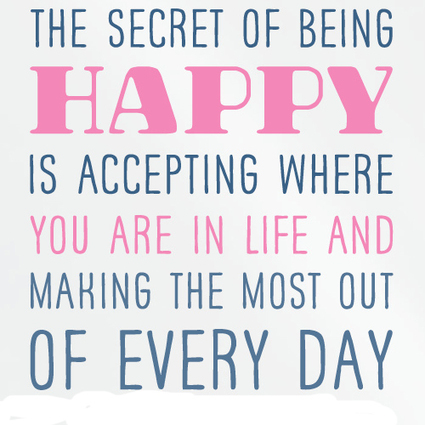Happiness is All About Acceptance | The Best Quotes of All Time | Scoop.it