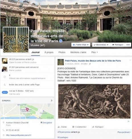 Top 40 des musées et monuments français sur facebook et twitter (6 octobre 2015): Petit Palais, Mémorial de Caen et CMN à la hausse | Accueil Touristique Numérique | Scoop.it
