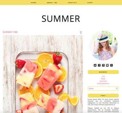 Curated Art Resource and Visual Cultures All day - Responsive Blogger Theme - Summer by PinkPot... | Blogger themes | Scoop.it