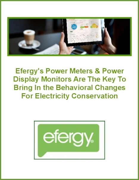 Efergy's Power Meters & Power Display Monitors Are The Key To Bring In the Behavioral Changes For Electricity Conservation | Energy Monitors | Scoop.it