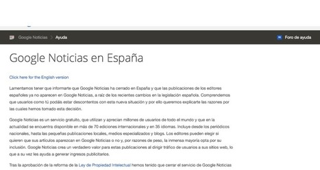 Hablando del Canon AEDE, Google News y chorradas varias | Seo, Social Media Marketing | Scoop.it
