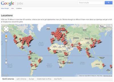 ¿Quieres trabajar para Google en tu país? Este mapa te dirá si hay posiciones disponibles | Bits on | Scoop.it