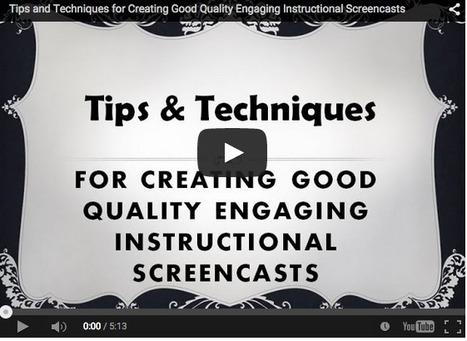 Dozens of Tips & Techniques for Creating High Quality Engaging Screencasts ^ Emerging Education Technologies ^ by Kelly Walsh | Into the Driver's Seat | Scoop.it