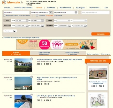 KISS. Ce que Leboncoin.fr nous révèle de l'économie du tourisme numérique « Etourisme.info | Chambres d'hôtes et Hôtels indépendants | Scoop.it