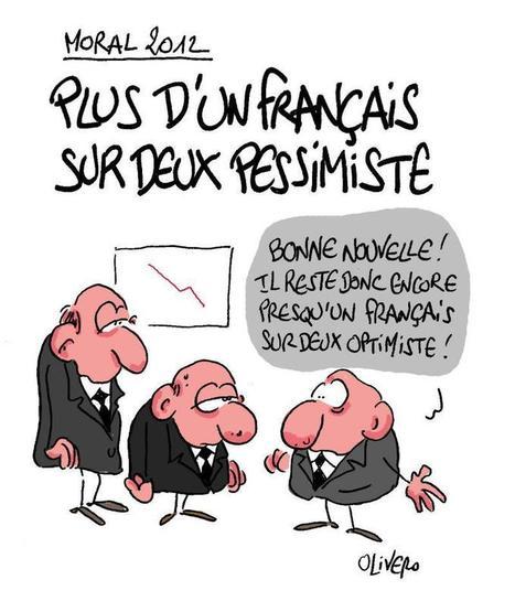Moral des Français  : plus d'un sur deux pessimiste pour 2012 | Baie d'humour | Scoop.it
