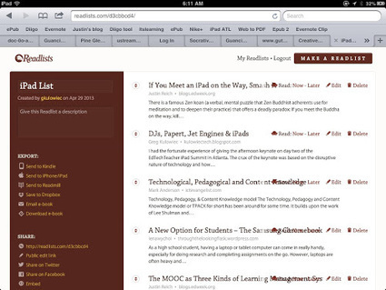 The History 2.0 Classroom: Readlists X Subtext | iPad classroom | Scoop.it