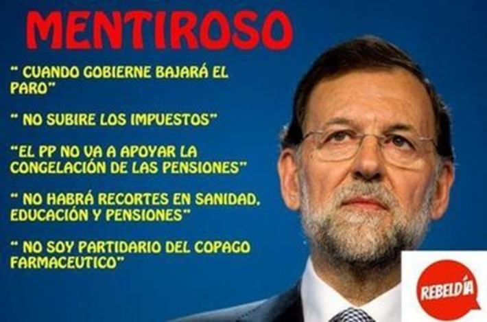 Mariano Rajoy, mentiroso. Garufa on Twitter | Partido Popular, una visión crítica | Scoop.it