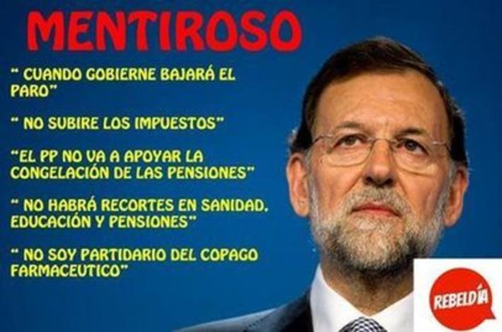 Mariano Rajoy, mentiroso. Garufa on Twitter | Partido Popular, una visión crítica | Scoop.it