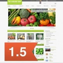 Bio & Organic Prestashop 1.5 Theme | Presta Ecommerce | prestashop | Scoop.it