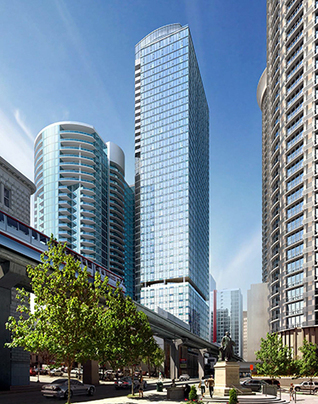 Seattle Hotel + Apartment Development: 47-story tower plans refined for Douglaston Development at 5th & Virginia | Dylan Simon -- Colliers International | Scoop.it