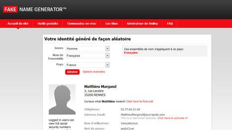 Generer une fausse identité avec Fake Name Generator | Inspiration Rôlistique | Scoop.it