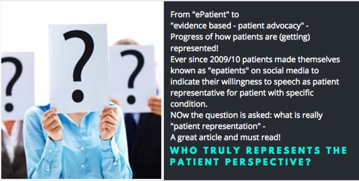Who truly represents the patient perspective? – Cancerworld | PATIENT EMPOWERMENT & E-PATIENT | Scoop.it