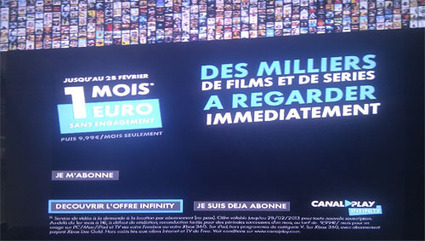 Promo Freebox : Profitez de Canalplay Infinity pour 1€ durant un mois ! - Univers Freebox | Richard Dubois Freebox Addict | Scoop.it