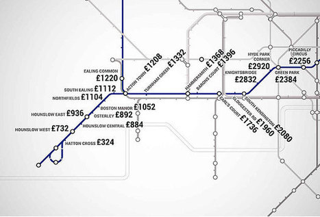 New London Underground map shows how expensive it is to rent stop-by-stop | Location Is Everywhere | Scoop.it