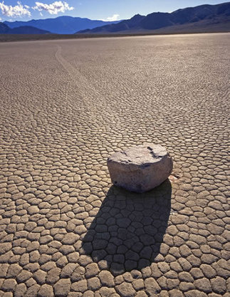 The Sliding Rocks of Racetrack Playa Mystery - GEOLOGY.COM | Weathering and Erosion | Scoop.it