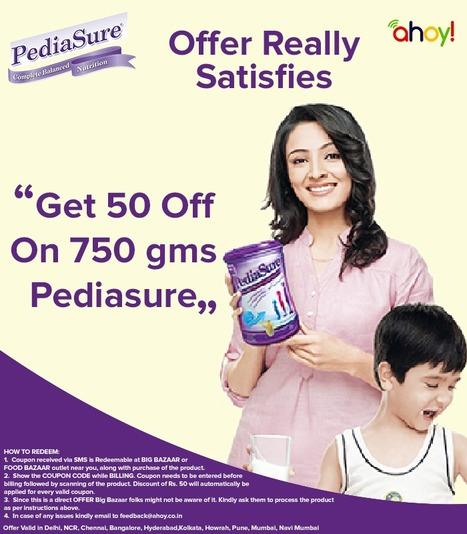 flat Rs. 50/- Off on Pediasure   food   Scoop.it