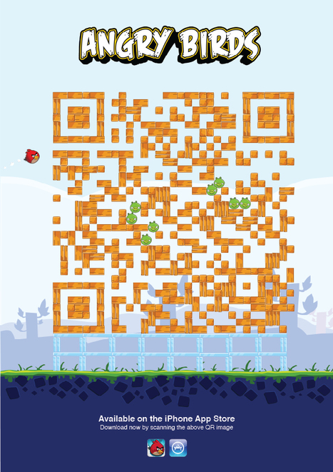 Great Creative Executions Of QR Codes For Angry Birds, Instagram and Shazam | Mobile Inc | QRiousCODE | Scoop.it