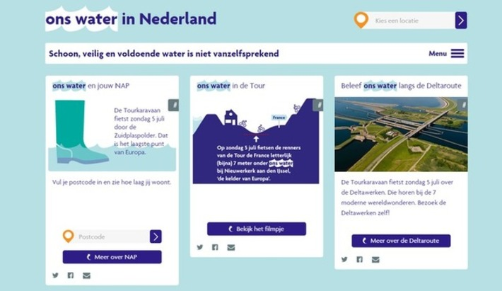 """EDU-CURATOR"": Watereducatie.nl en Ons water.nl: 2 leuke websites om te gebruiken bij een project over (drink)water 