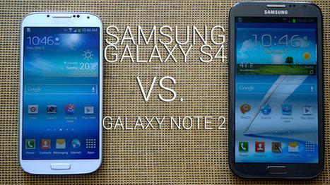 Samsung Galaxy S4 vs. Galaxy Note 2   My smartphone   Scoop.it