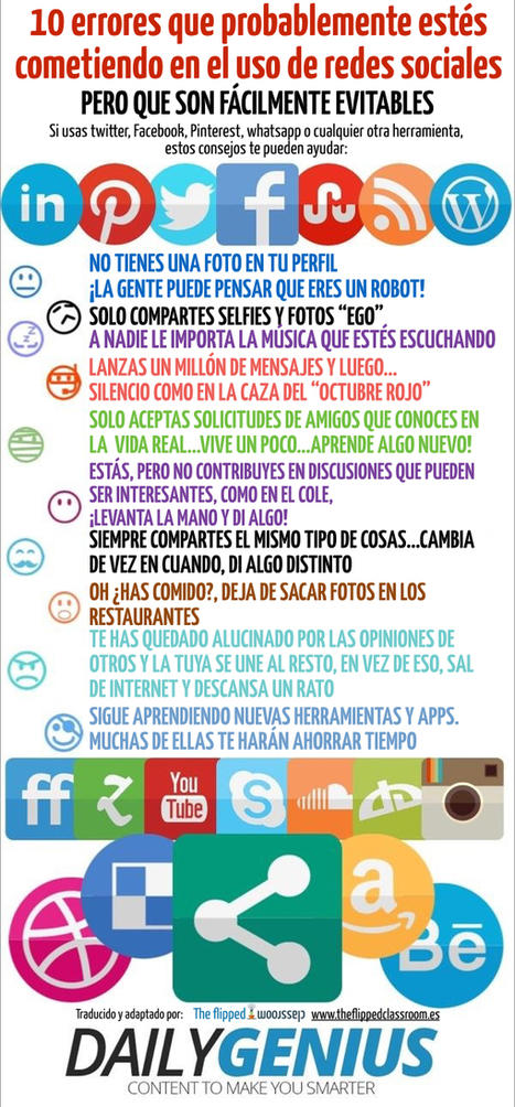 ¿Te estás iniciando el uso de redes sociales? | Education | Scoop.it