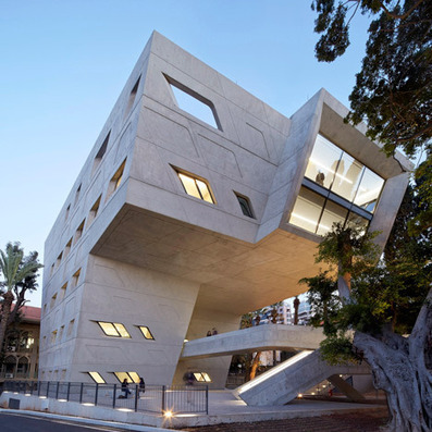 Zaha Hadid adds concrete and cantilevers to Issam Fares Institute | sustainable architecture | Scoop.it