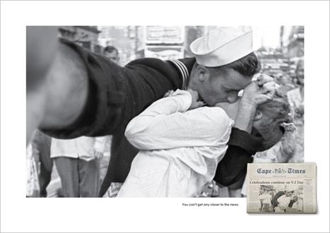 Famous Photos Reimagined as Selfies in Newspaper's Wonderful Print Ads | Media | Scoop.it