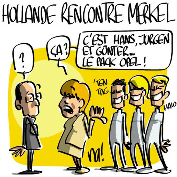 Hollande rencontre Merkel | Baie d'humour | Scoop.it