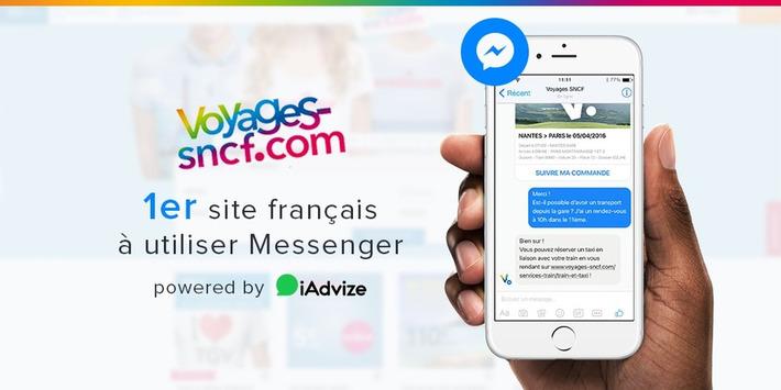 Voyages-sncf.com intègre Facebook Messenger avec iAdvize | Médias sociaux : Conseils, Astuces et stratégies | Scoop.it