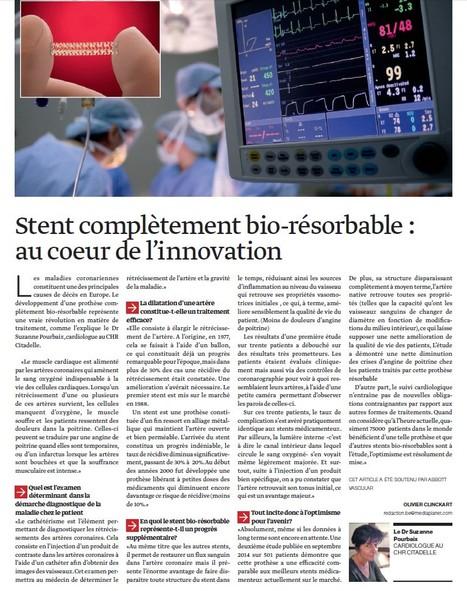 Stent complètement bio-résorbable : au coeur de l'innovation | Votre santé, notre métier | Scoop.it
