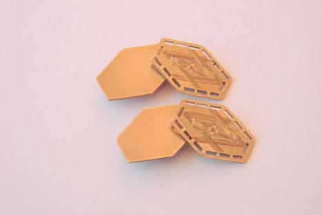 Edwardian Beautifully Etched Gold Plate Cufflinks / par JoysShop | Jewelry | Scoop.it