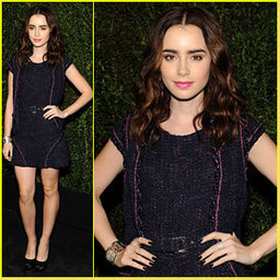Lily Collins: Chanel Pre-Oscars Dinner 2013 | Lily ... - Just Jared Jr. | TAFT: Trends And Fashion Timeline | Scoop.it