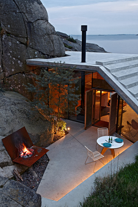 Seaside Cabin on the Rocks in Norway: Knapphullet by Lund Hagem | architecture verte | Scoop.it