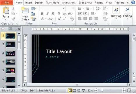 Circuit PowerPoint Template | tecno4 | Scoop.it